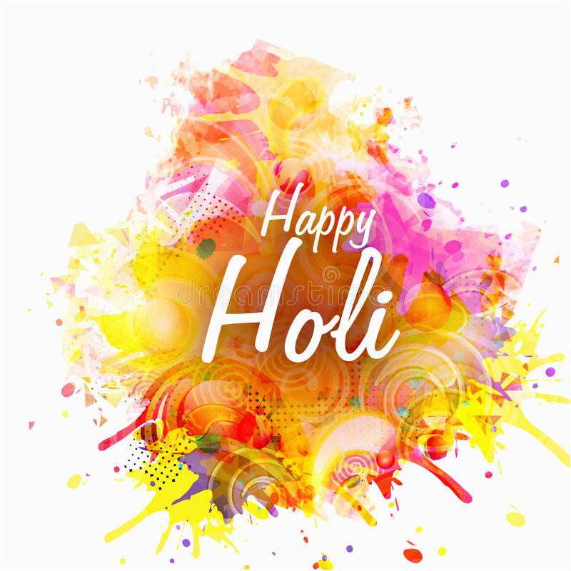 Happy Birthday Banner Background Hindi Poster Banner or Flyer for Holi Festival Celebration