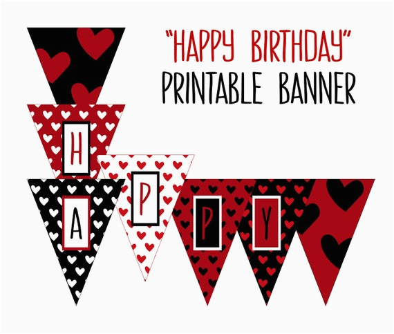 printable happy birthday banner birthday party
