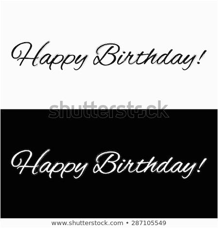 happy birthday banner on black white 287105549