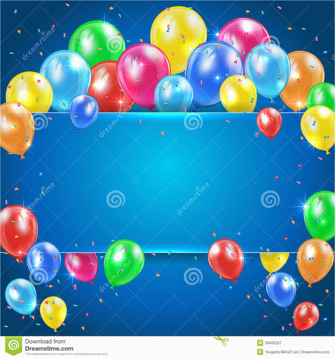 royalty free stock photography balloons blue background banner flying colored holiday illustration image39405257
