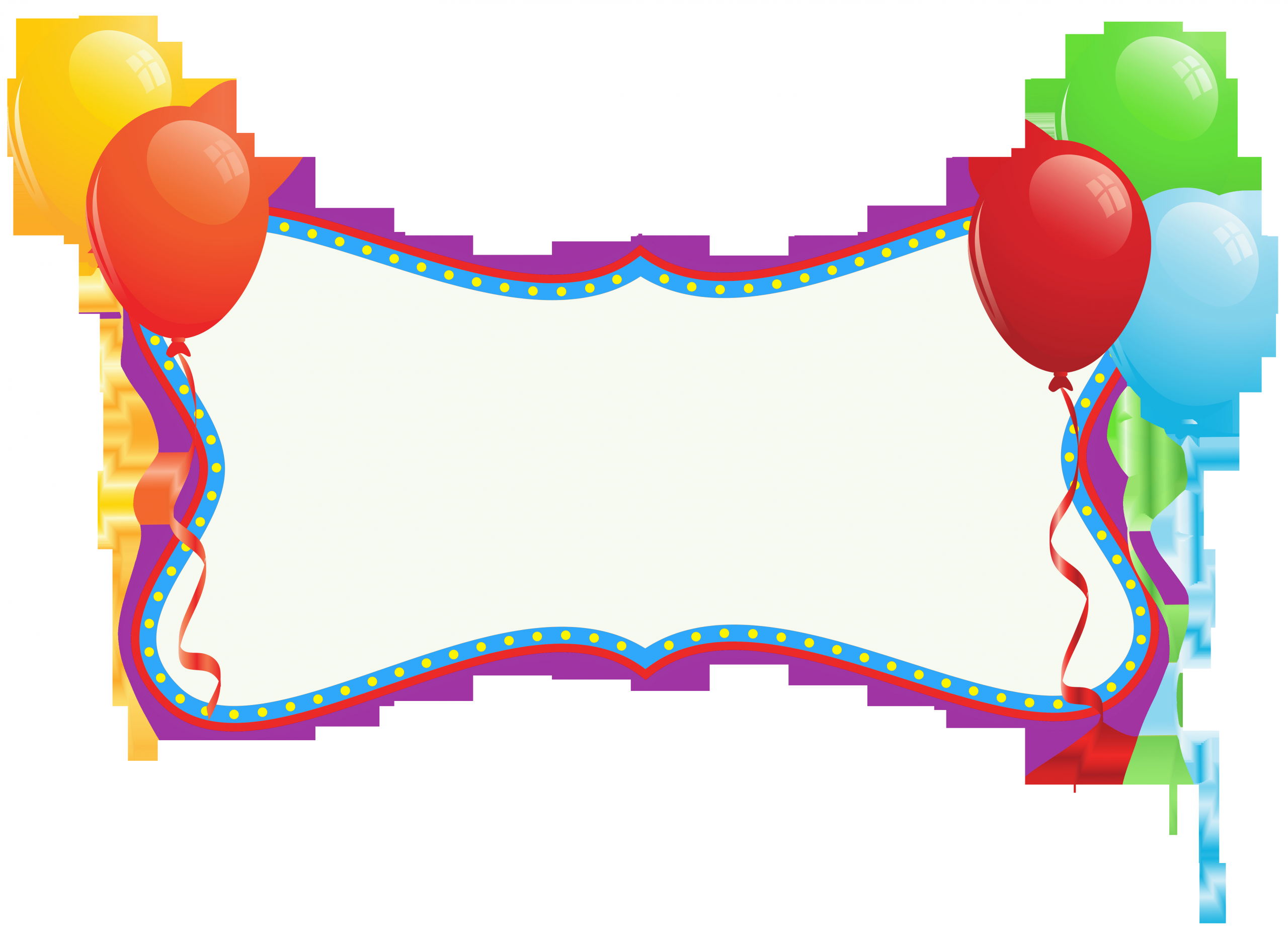 birthday holiday banner with balloons png clipart