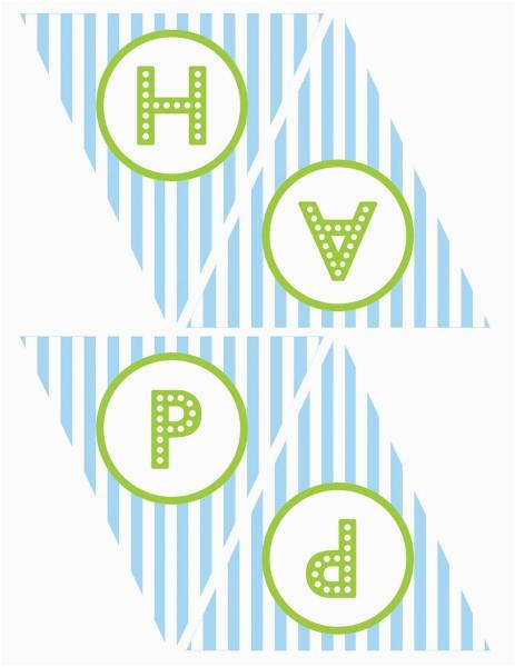 Happy Birthday Banner Blue Printable La Cocina De Marta Blay Moldes Gratis Cupcakes Cumpleanos