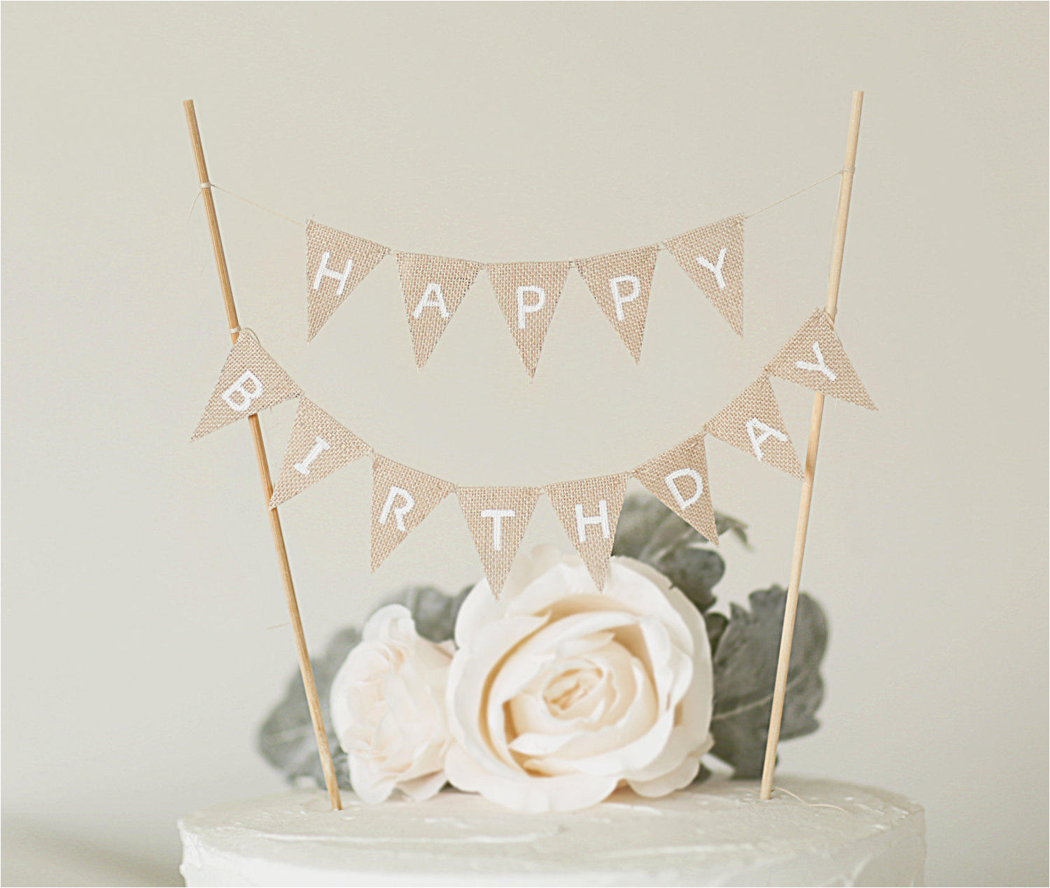 happy birthday banner cake toppers cake