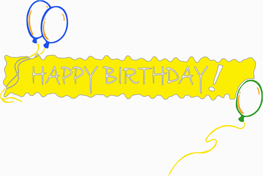 happy birthday banner clipart