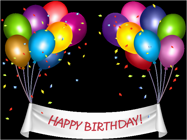 Happy Birthday Banner Clipart Png Transparent Happy Birthday Banner and Baloons Png Clip Art