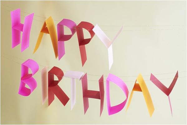 3d birthday banner diy