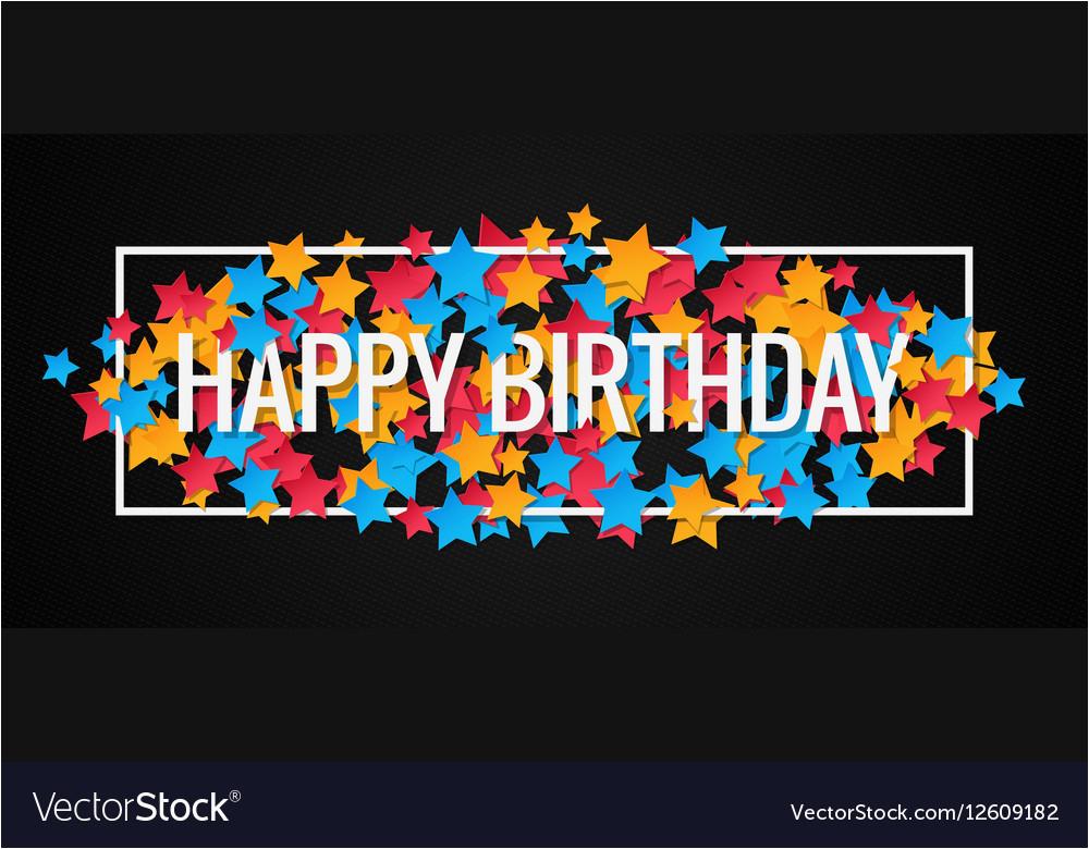 happy birthday banner design background vector 12609182