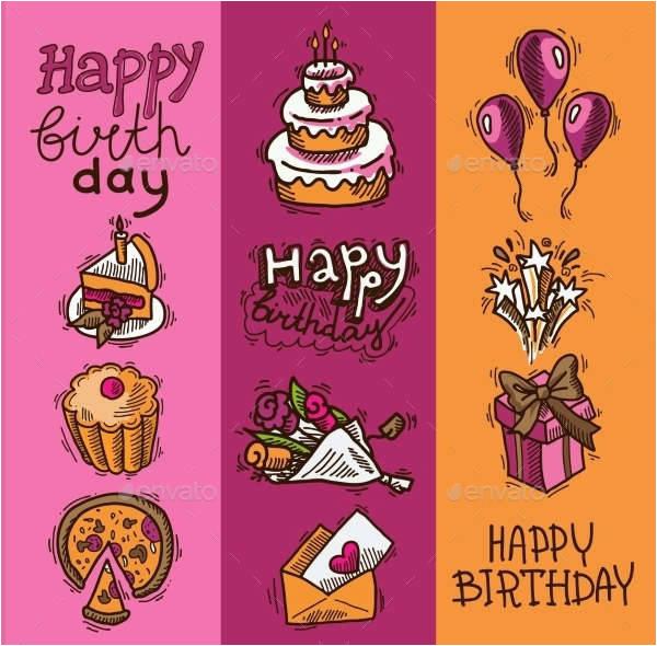 Happy Birthday Banner Design Vector Free Download 10 Birthday Banner Designs Design Trends Premium Psd