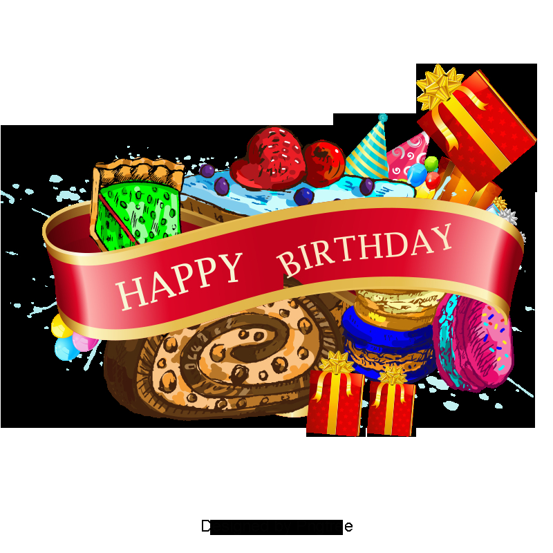 beautiful ribbon birthday background vector material 1151906