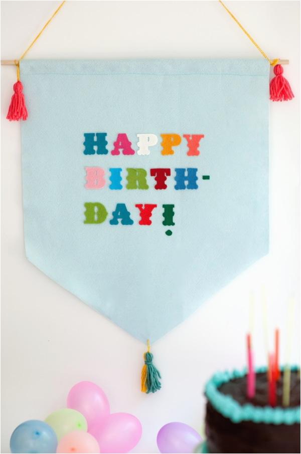 felt birthday banner diy