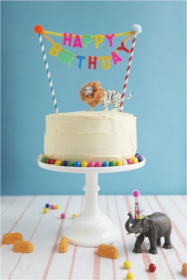Happy Birthday Banner Diy for Cake Ideas Para Decorar Las Tartas Con Animales De Juguete