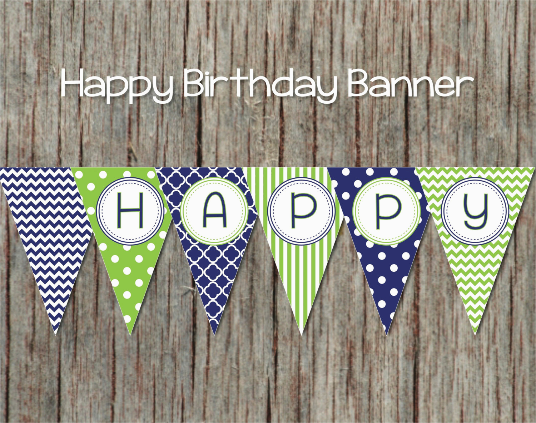 printable birthday banner diy happy birthday banner digital party 003