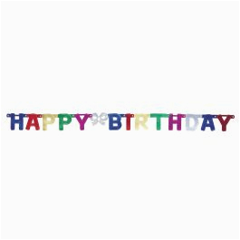 dg party metallic happy birthday banner 4ft