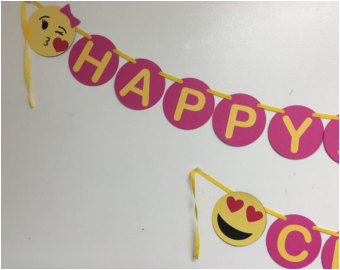 Happy Birthday Banner Emoji Justice Emoji Birthday Party Invitation Printable Digital