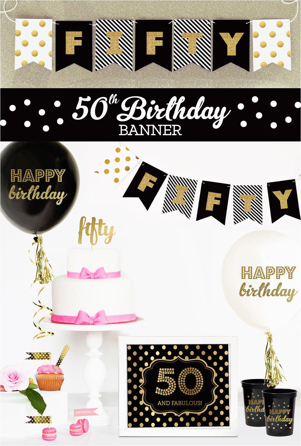 happy 50th birthday banner 50th birthday