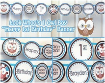 owl 1st birthday