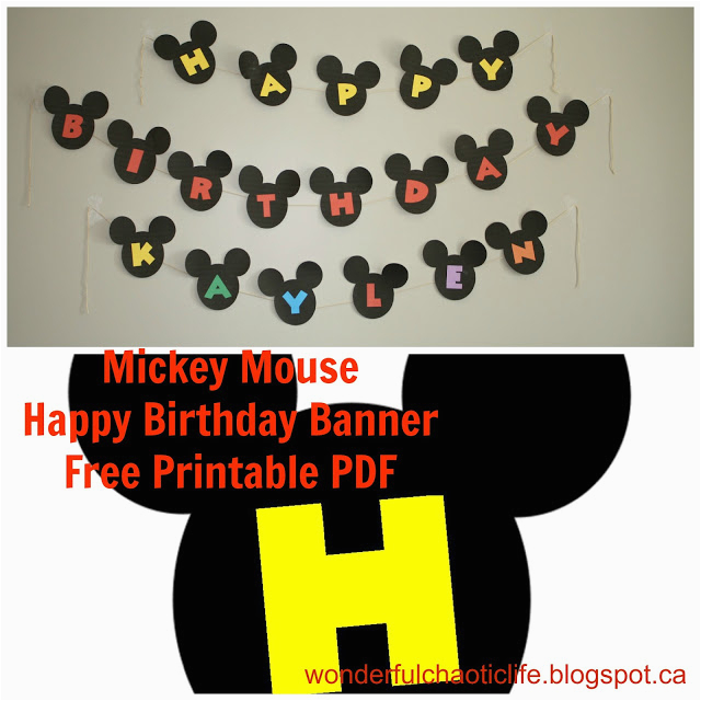 mickey mouse birthday party free