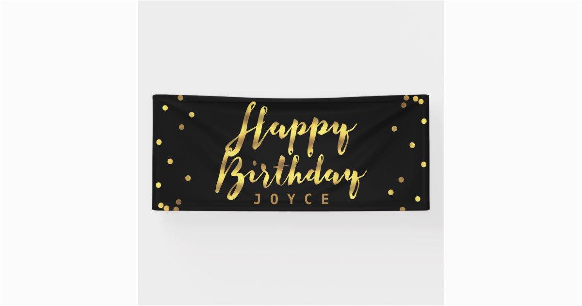 personalized happy birthday faux gold confetti banner 256801895449408648