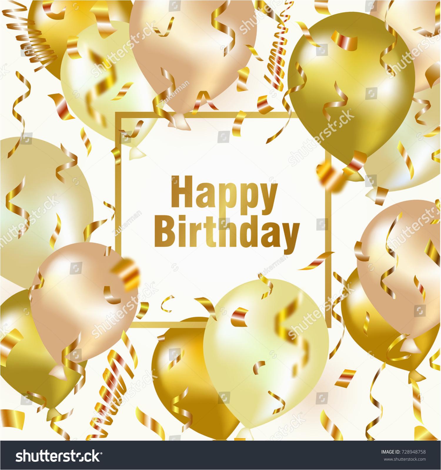 happy birthday celebration background gold balloon 728948758