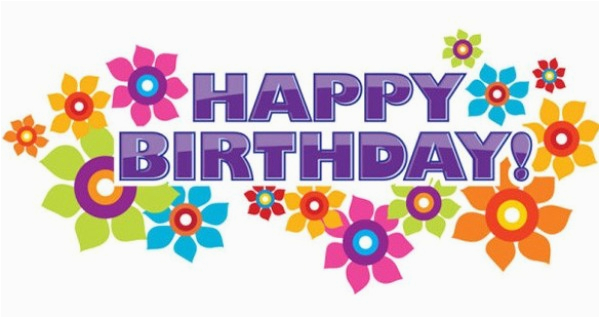 glossy floral happy birthday vector banner