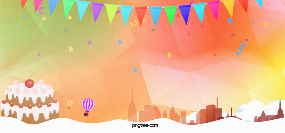 party geometric yellow banner background 679427