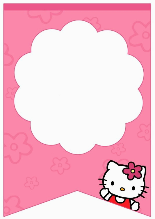 Happy Birthday Banner Hello Kitty Free Free Printable Hello Kitty Baby Shower Invitation