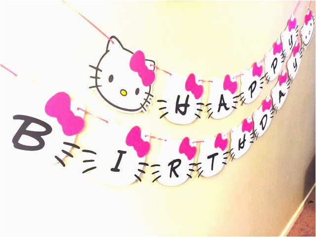 hello kitty banner hello kitty birthday