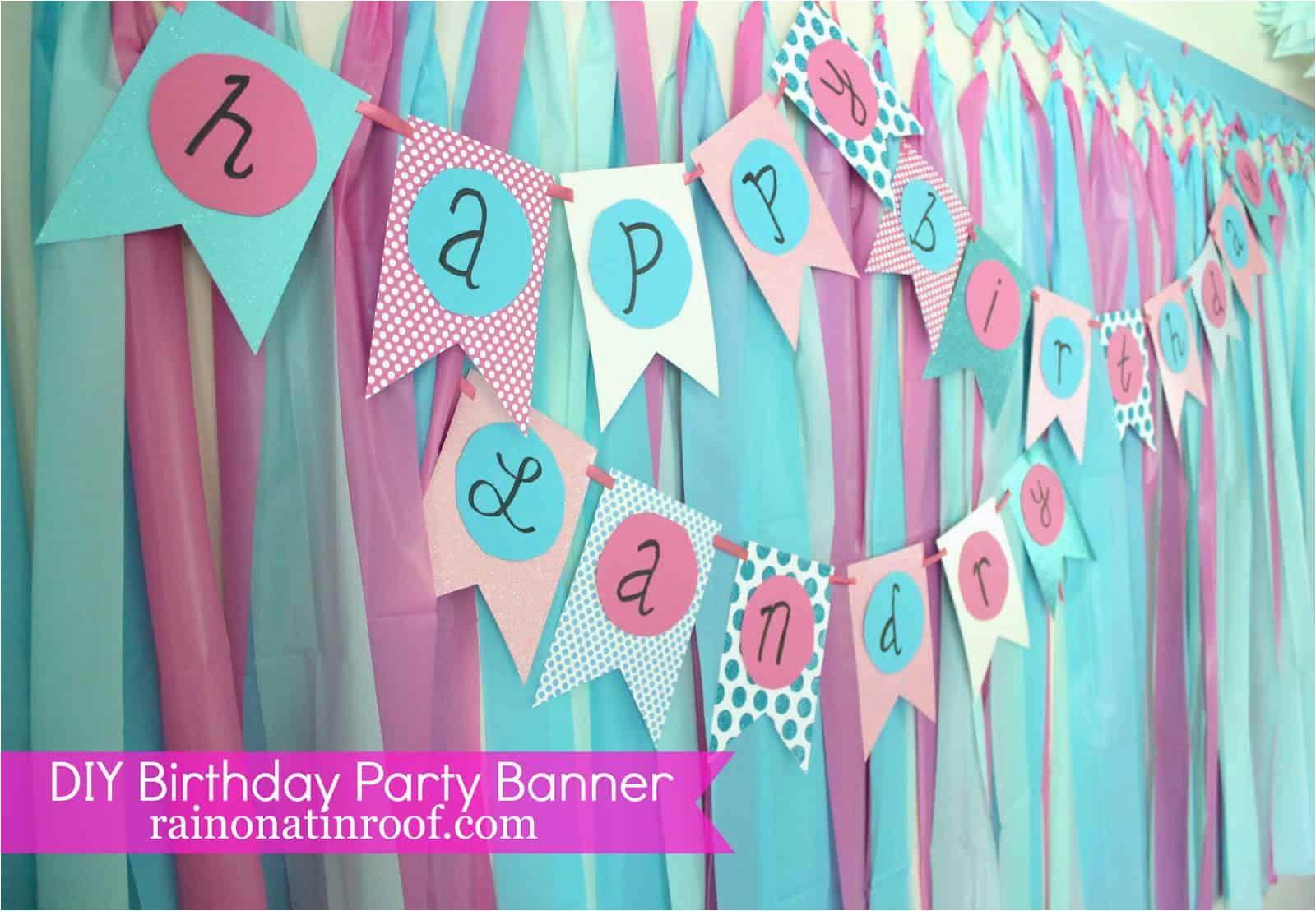 homemade birthday banners