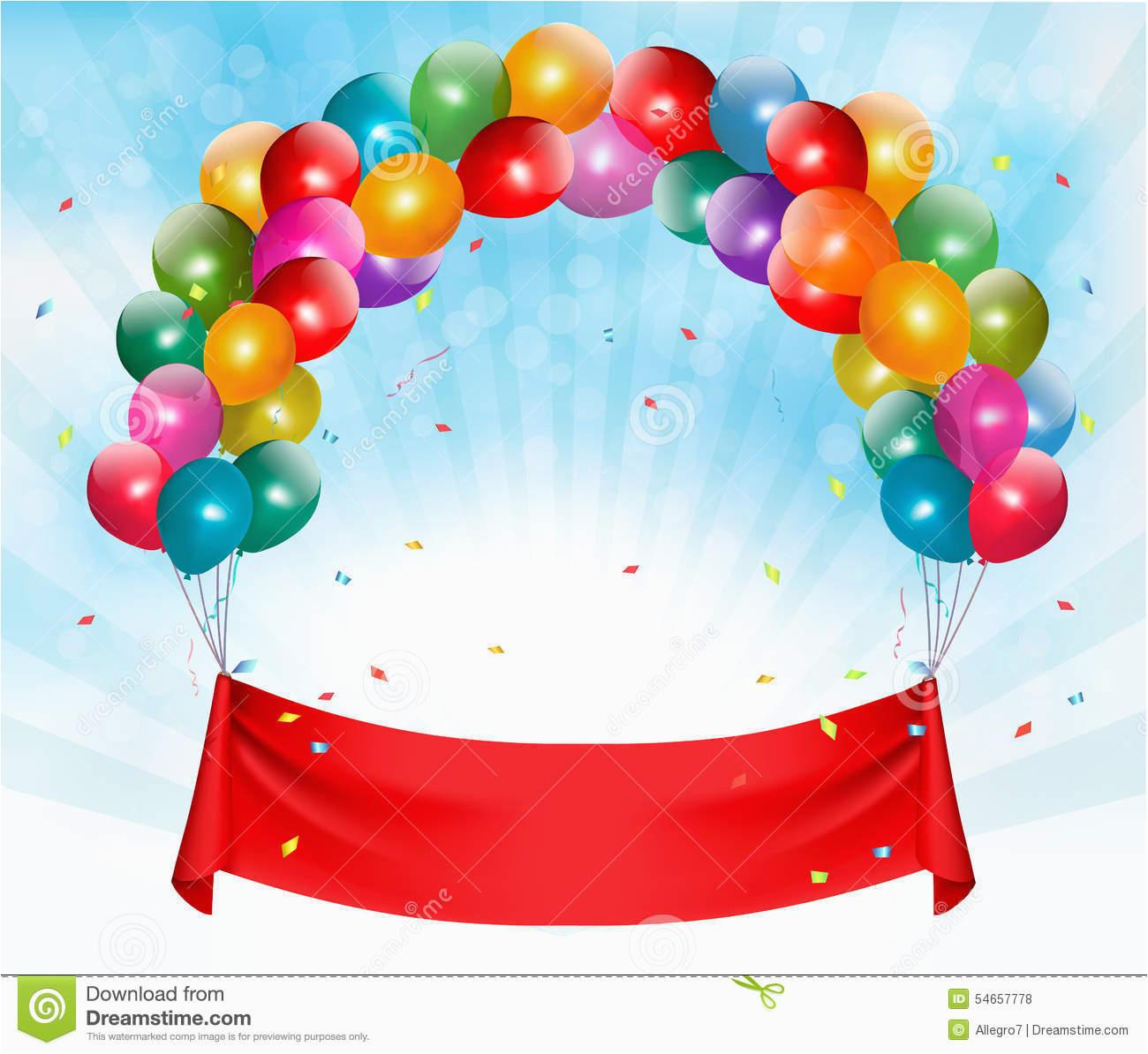 stock illustration happy birthday banner background vector image54657778