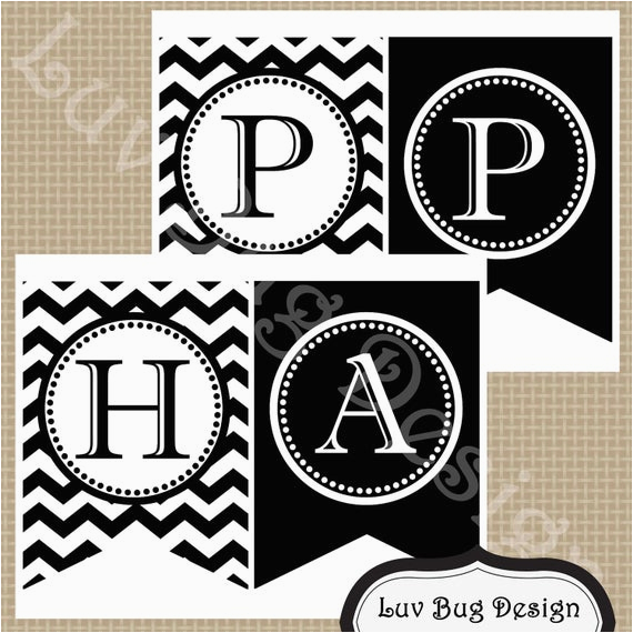 instant download printable black and