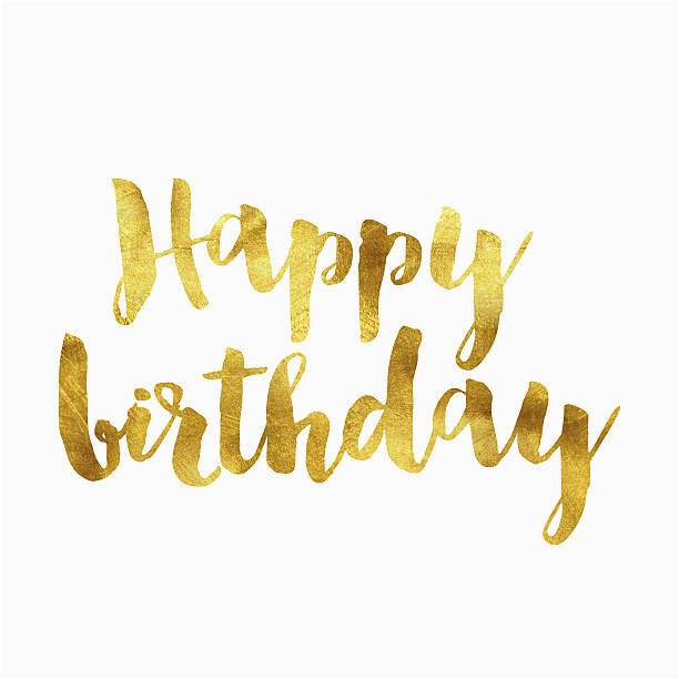 Happy Birthday Banner In Gold istock