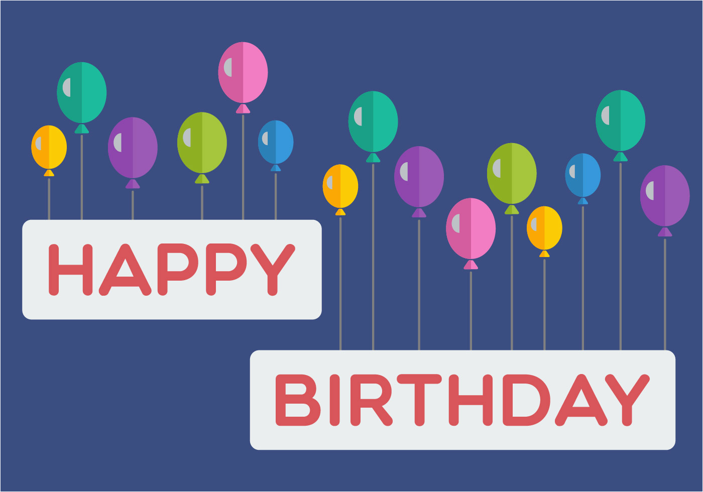 Happy Birthday Banner Inflatable Happy Birthday Balloon Banner Download Free Vector Art
