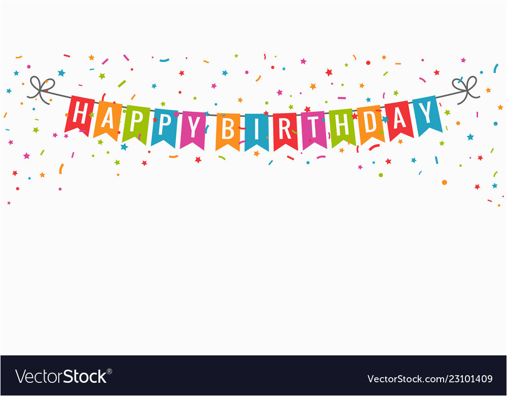 Happy Birthday Banner Jpg Happy Birthday Banner Birthday Party Flags with Vector Image