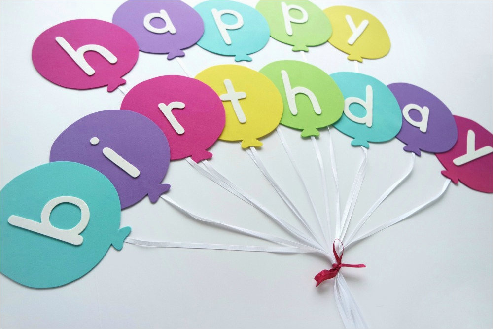 happy birthday banner diy