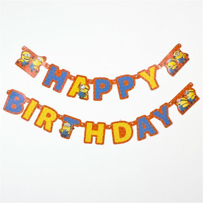 minion happy birthday letter banner