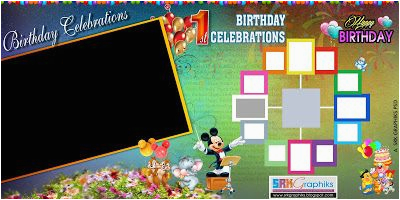 Happy Birthday Banner Layout Indian Birthday Designed Flex Banners Psd File Free
