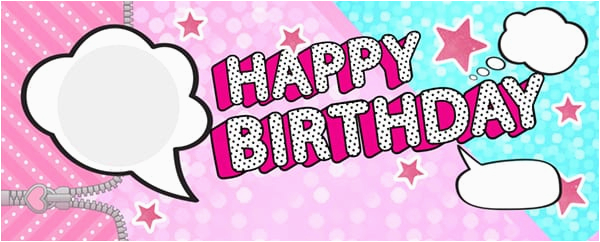 lol speech bubbles happy birthday pink and blue design large personalised banner 10ft x 4ft