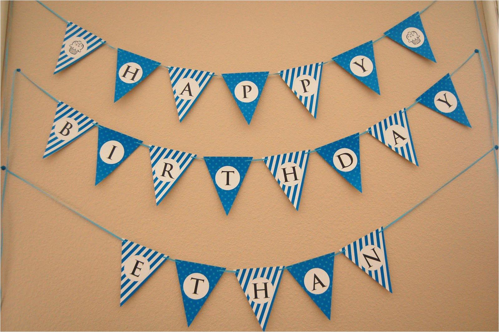 birthday banner free printable templates
