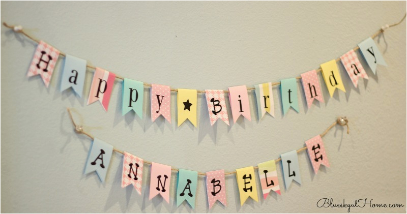 how to make an easy diy birthday banner