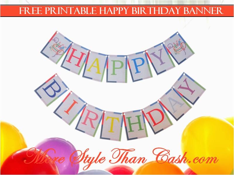 printable birthday banner