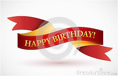 Happy Birthday Banner No Background Happy Birthday Red Waving Ribbon Banner Royalty Free Stock