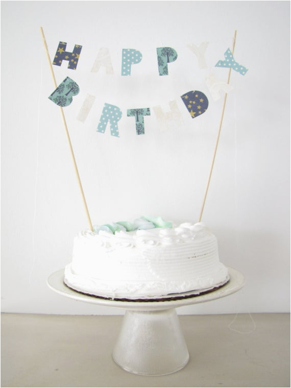happy birthday cake topper cake banner
