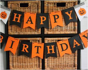 argyle happy birthday banner halloween