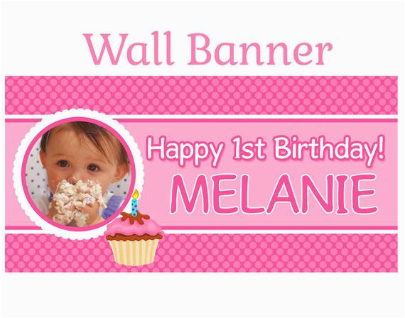 happy 1st birthday banner personalize