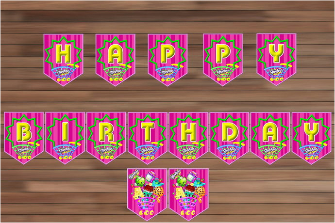 shopkins birthday banner printable happy birthday banner pdf