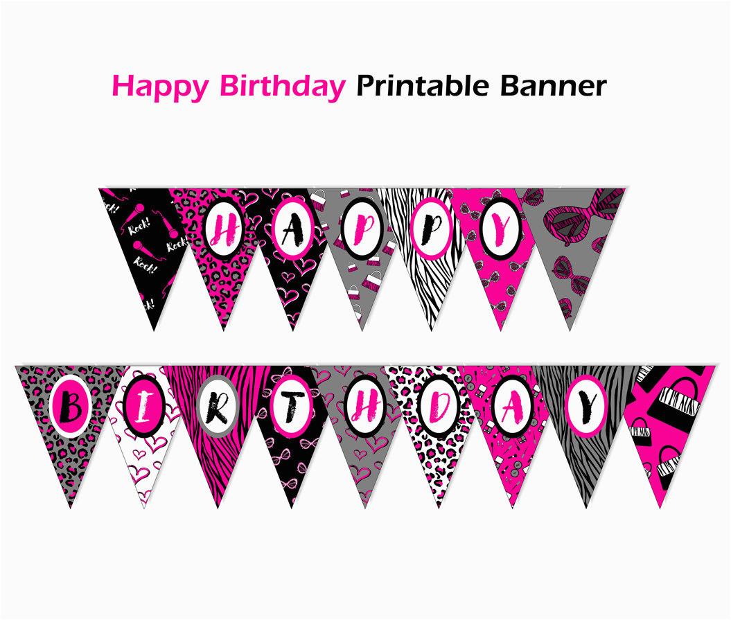 editable banner diva birthday banner