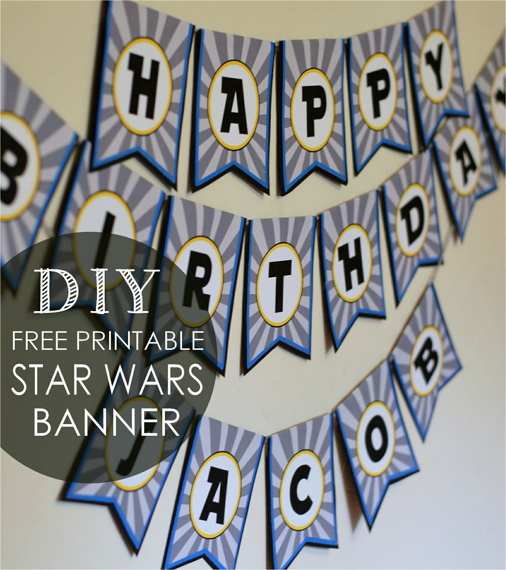 Happy Birthday Banner Printable Free Download Diy Star Wars Birthday Banner Free Printables Posh Tart
