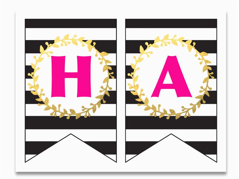 free printable happy birthday banner and alphabet