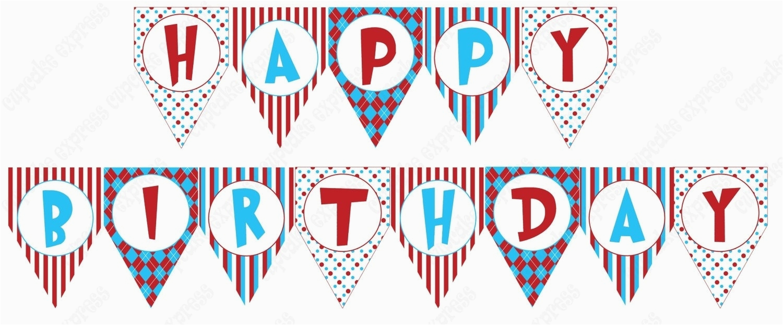 Happy Birthday Banner Printable Small Birthday Banner Template Printable Vastuuonminun