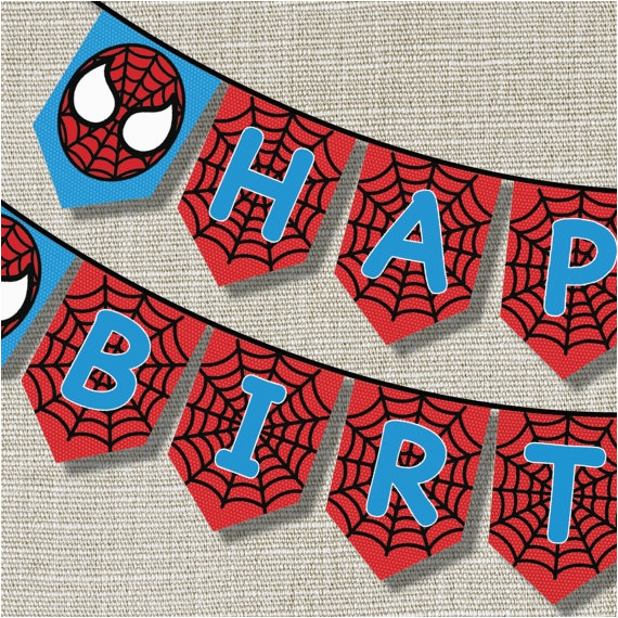 spiderman happy birthday